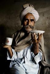 Portrait Rajasthani Indian Man Morning Market Concept