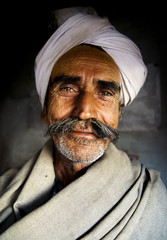 Indigenous Senior Indian Man Looking Portrait Concept
