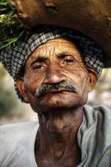 Indigenous Senior Indian Man Grumpy Concept