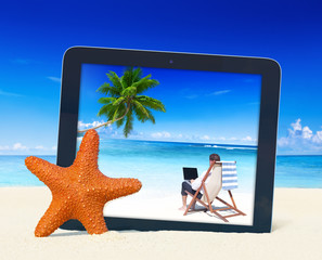 Beach Business Vacation Relaxation Summer Concept
