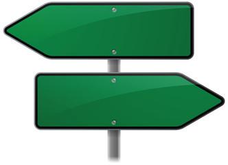 Green Arrow Choice Signs