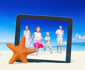 Family Having Fun Beach Togetherness Concept