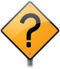 Question Mark Road Sign