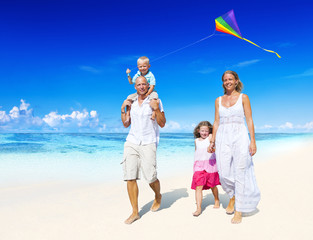 Family Beach Holiday Vacation Happiness Concept