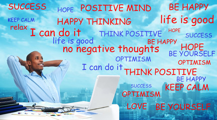 Positive thinking black man.