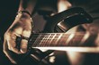 Leinwanddruck Bild - Rockman Guitar Player