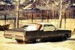 canvas print picture - Rusty American Classic Car