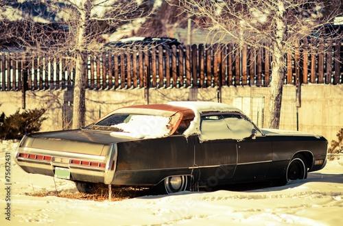 canvas print picture Rusty American Classic Car