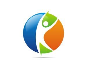 human figure logo v.10