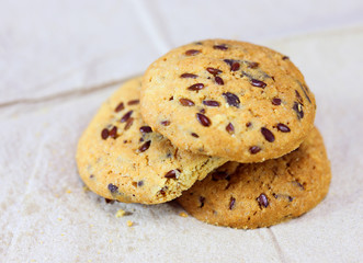 Whole grains cookies on paper