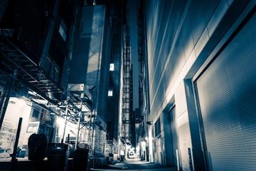 Big City Alley at Night