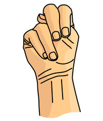 N Sign language vector