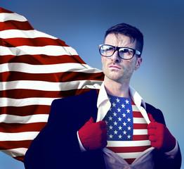 USA United States of America flag hero concept