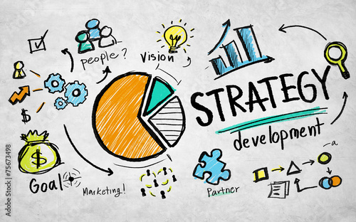Strategy Development Goal Marketing Vision Planning Business Con - 75673498