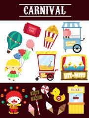 carnival vector set
