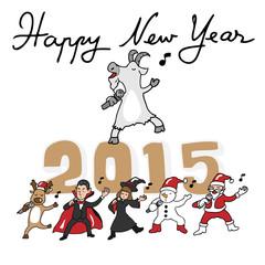 Happy New Year singing team