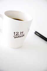 coffee cup for worker