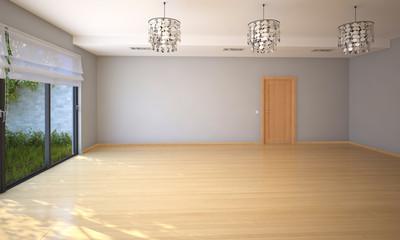 Пустая просторная комната