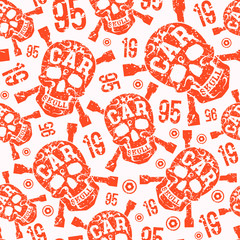 Seamless pattern with image of skull