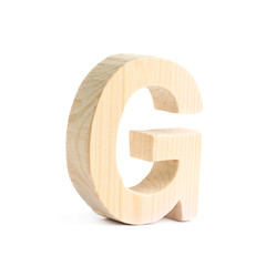 Wooden block letter isolated