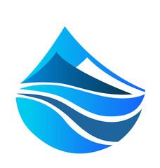 Blue mountains icon logo vector design
