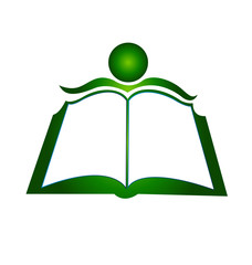 Book concept of education logo vector