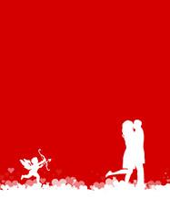 Liebespaar mit Engel