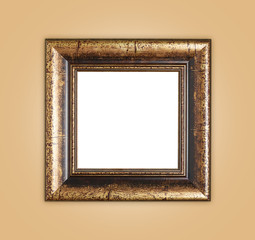 Copyspace empty wooden picture frame composition