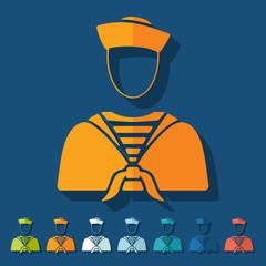 Flat design: sailor