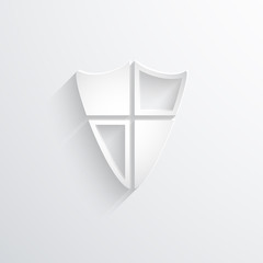 Vector shield web icon