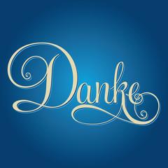DANKE hand lettering. German edition.