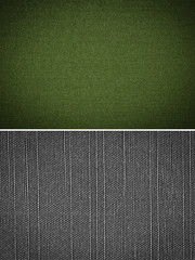 fabric texture background, set