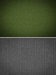 fabric texture background, set