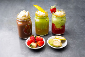 Group shot of fruit smoothies