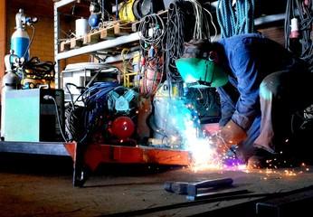 welding in the workshop