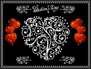 Valentine's blackboard