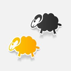 realistic design element: sheep