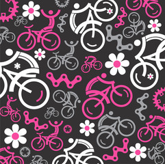 Funny cycling decorative background