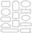 Set of simple decorative frames - 75680612
