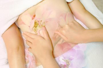 Woman having massage  body in the  beauty  spa salon