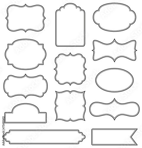 Set of simple decorative frames - 75680612