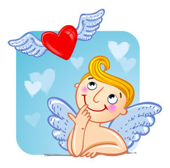 Cupid in love.