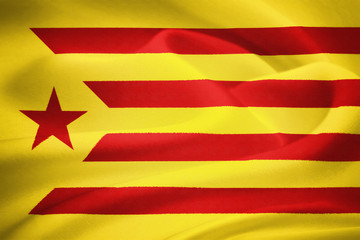 The flag of Catalonia