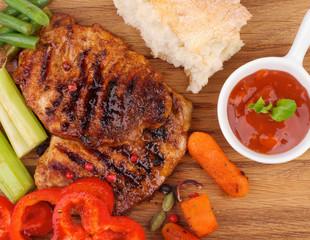 Roasted Steaks and Vegetables