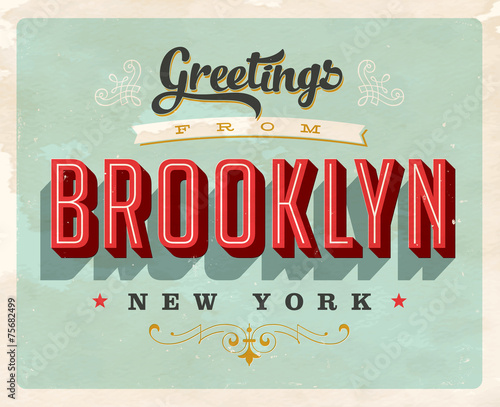 Retro Greetings from Brooklyn, New York