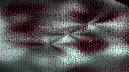Dark horror animated shaking background with blood