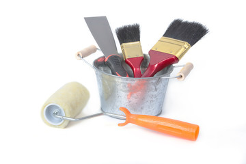 Paint tool ,Paint rollers , Brush and steel shovel