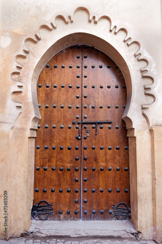 Fotobehang Marokko Architecture of a door in Morocco