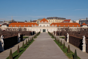 Lower Belvedere palace and museum in Vienna, Austria