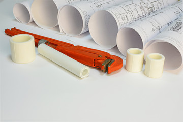Drawing rolls, plumbing hardware tools and appliances